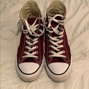 Maroon High Top Chuck Taylor All Star Converse